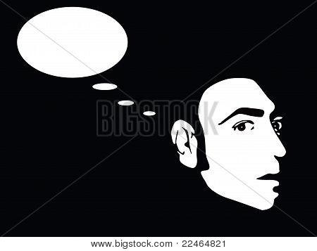 hombre pensando