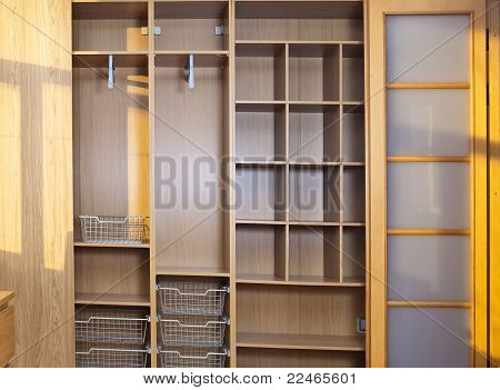 New wardrobe in the course of assemblage