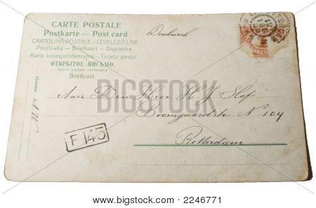 Vintage Postcard Postmarked 1881