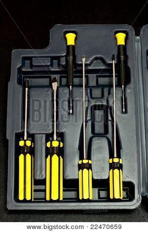 Screw driver tool box