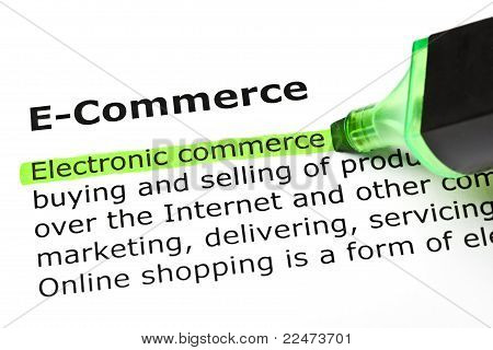 'electronic Commerce', Under 'e-commerce'