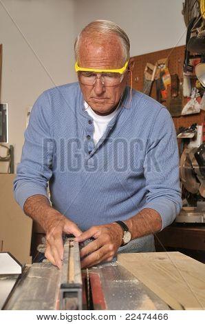 Senior Retired Carpenter and Woodworker