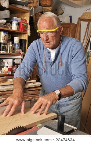 Senior Retired Carpenter and Woodworker