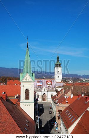 Roofs in Zagreb upper town