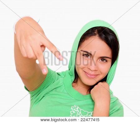 Hip Hop Young Woman