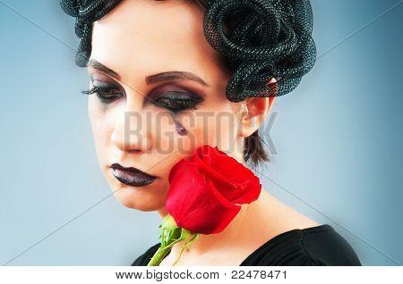 Mulher representando o conceito og mal (Górgona Medusa)