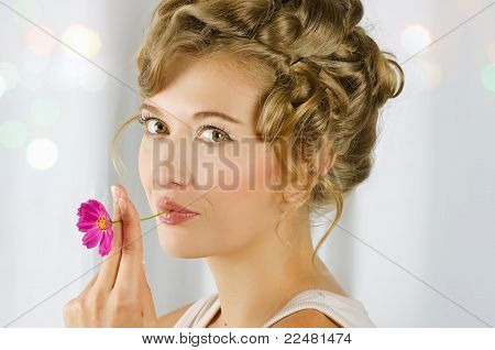 beauty woman closeup portrait