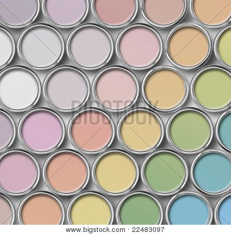 Light Shade Color Paint Tin Cans