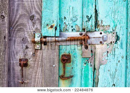 Geschraubte Tür