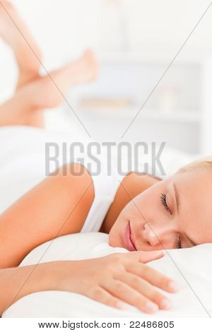 Portrait Of A Lovely Woman Sleeping