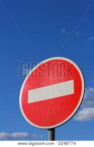 Prohibiting Road-Sign