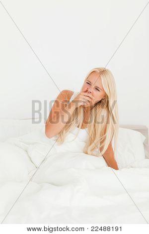 Beautiful Woman Yawning