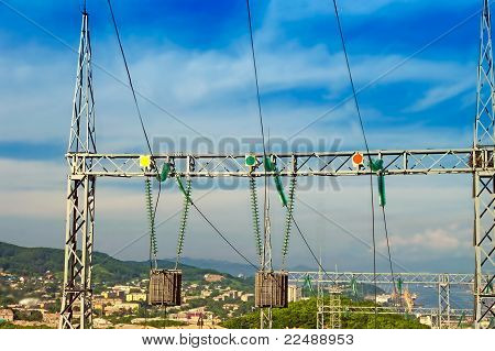 The Substation And  Power Transmission Lines.