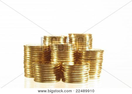 Coin And Gold Bar
