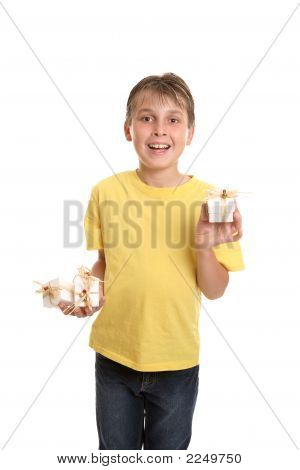 Child Showcasing Gifts