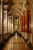 foto of crucifiction  - Interior hall of Saint Louis Cathedral with marble columns - JPG