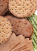 pic of wasa bread  - crispbread and wheat - JPG