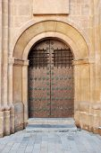 Door Of A Medieval Church poster