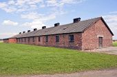 pic of auschwitz  - Prisoners barracks at the Auschwitz Birkenau concentration camp in Poland - JPG