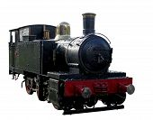 picture of chug  - A miniature steam train isolated with clipping path - JPG