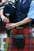 image of bagpiper  - scottish bagpipe player - JPG