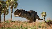 3d render of the carnotaurus dinosaur poster