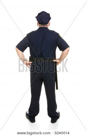 Police Officer Full Body Rear