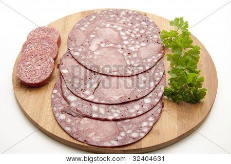 Blood sausage with garlic sausage