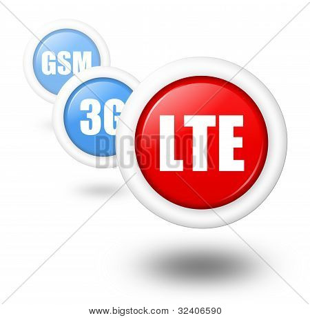 Lte Telecommunication Progress Concept Illustration