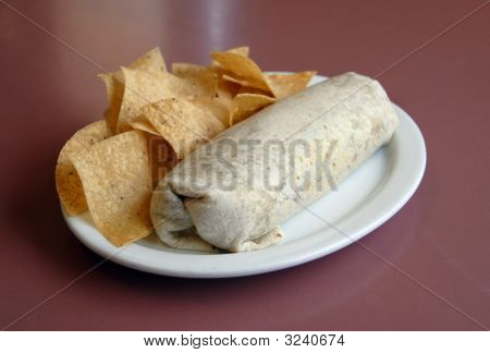 Burrito And Chips