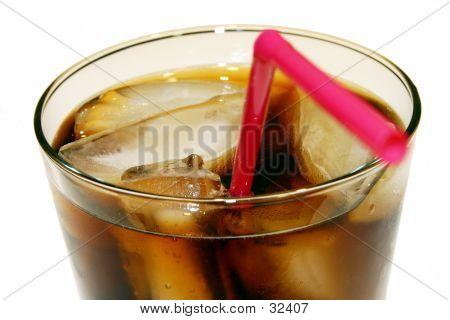 Cola Glass Close-up