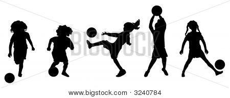 Girls Soccer Practice