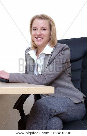 Smilling business woman