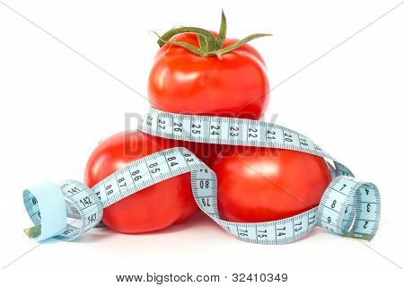 Tomatoes Wrapped With Measuring Tape