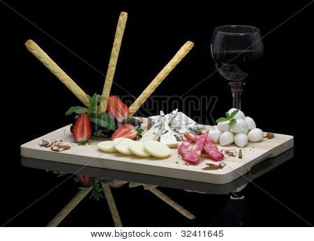 Gourmet cheese platter