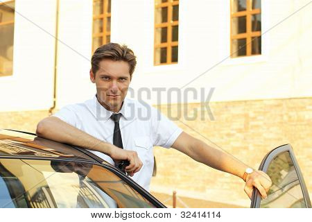 Man With Keys Of Their New House, Car
