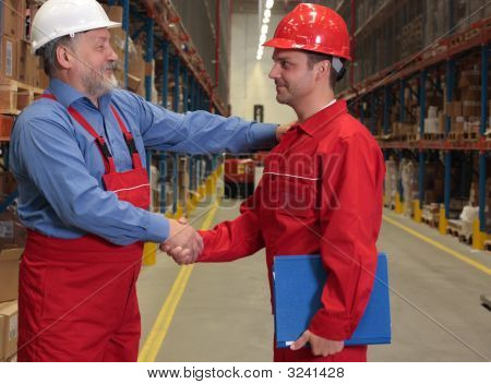 Warm Handshake Of Respect