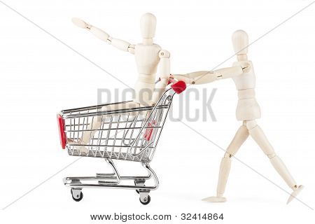 Dummy With Shopping Cart