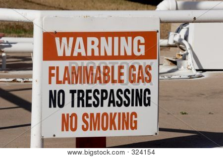 Flamable Gas Warning