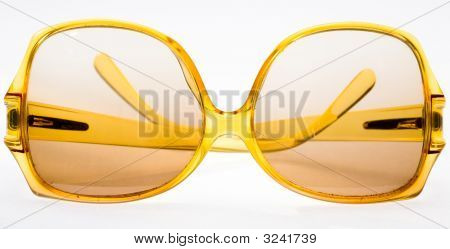 Yellow Retro Sunglasses