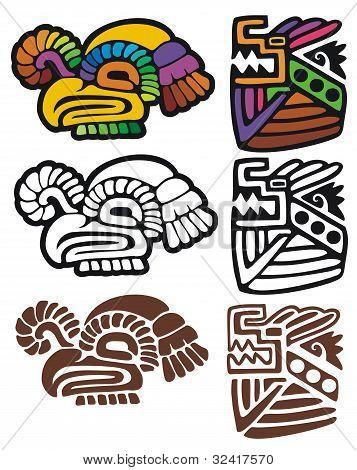 Mayan gylphs