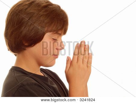 Thirteen Year Old Boy Praying