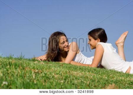 Happy Teens Talking