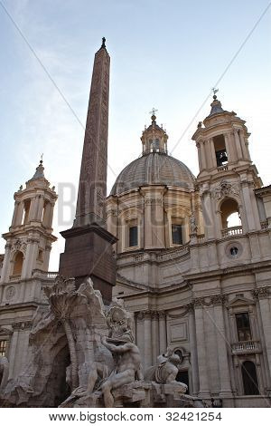Sant'Agnese in Agone at the Piazza Navona.