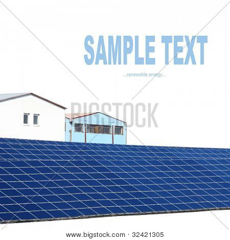 Solar power station. Alternative energy concept.