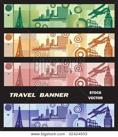 Banner On The Theme Of Travel
