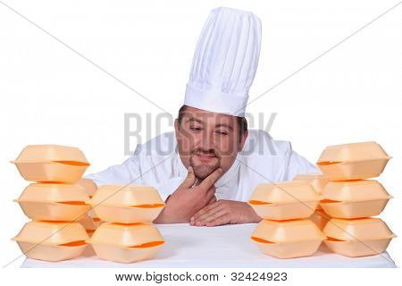 Cook between hamburgers boxes