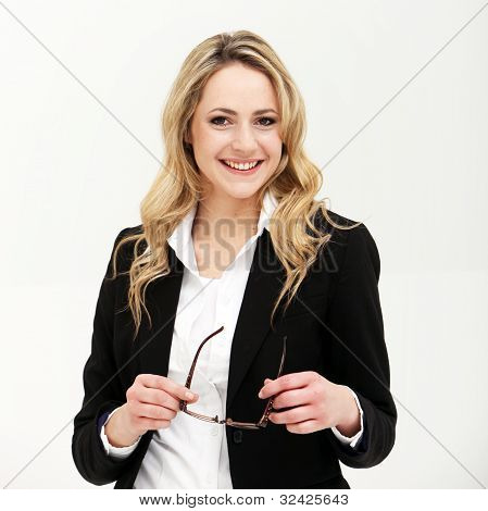 Smiling Confident Busineswoman Or Manageress