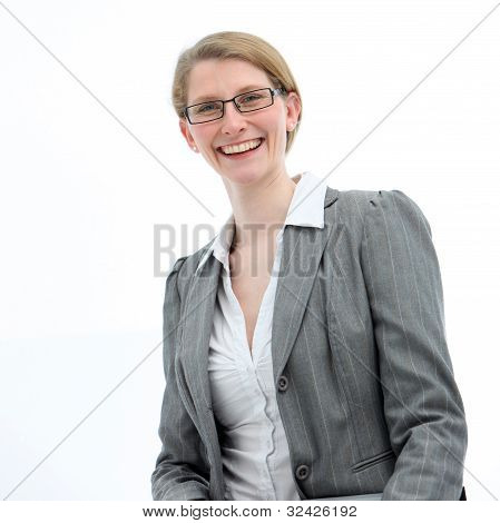 Smiling Friendly Businesswoman
