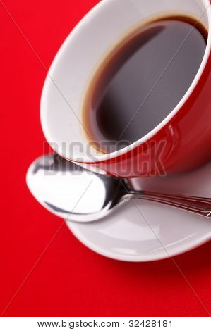 Coffee Cup With A Spoon
